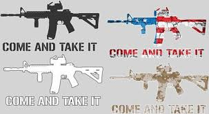 08 02 2nd Amendment Ar 15 M4a1 Come And Take It Molon Labe Window Stic Devious Decals And Apparel
