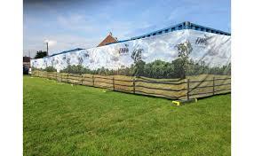 Custom Printed Vented Fence Screening Sitepro
