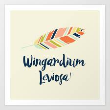 Wingardium Leviosa Art Print By Literarylifestylecompany Society6