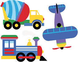 Amazon Com Wallies Vinyl Wall Decals Peel And Stick Trains Planes And Trucks Stickers For Boys Bedroom Or Playroom 6 Pc Home Kitchen