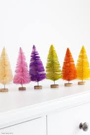 How To Make Bottle Brush Holiday Trees Happy Happy Nester