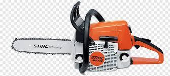 orange and white stihl chainsaw stihl