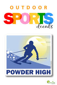Skiing Skiing Sticker Skiing Decal Skiing Winter Sports Vinyl Decal Window Decal Car Decal Water Bottle Sticker Laptop Decal With Images Sports Vinyl Decals Vinyl Decals Laptop Decal