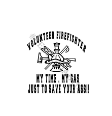 Volunteer Firefighter My Time Vinyl Decal Rebel Rd Auth