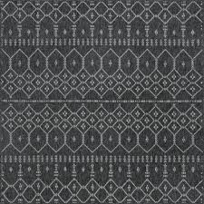 6 x 6 square black outdoor rugs
