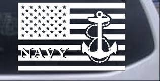 Us American Flag Us Navy Car Or Truck Window Decal Sticker Rad Dezigns