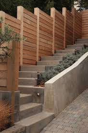 Landscape Ideas And Garden Design Pictures Remodels And Decor Privacy Fence Designs Backyard Fences Sloped Garden