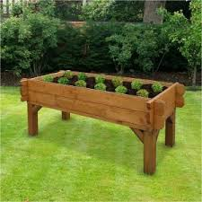 elevated cedar raised bed kit elevated