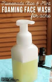 homemade aloe mint foaming face wash