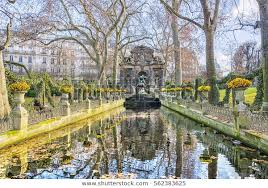 luxembourg garden jardin du stock photo