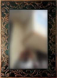 khushi decors copper antique mirror