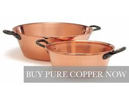 copper pots and copper cookware