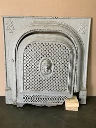 antique painted cast iron fireplace