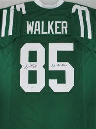 wesley walker signed custom replica ny jets jersey w/ 2 x pro bowl