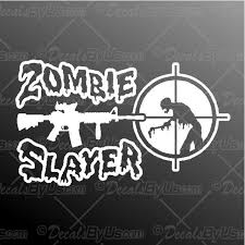 Save Big On Zombie Slayer Car Truck Stickers
