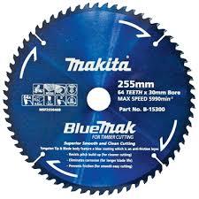 Makita 255mm 64t Bluemak Mitre Saw Blade Bunnings Warehouse