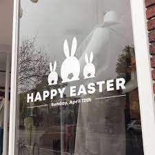 Happy Easter Day Window Decal Removable Retail Display Vinyl Etsy In 2020 Happy Easter Day Easter Window Display Window Decals