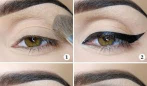 a makeup illusion for large eyes