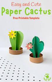 3d Paper Cactus Craft Kids Craft Room