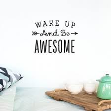 Wake Up Awesome Pink Quote Made Of Sundays Heylittlebaby