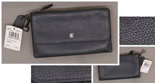 phone wallet in polished pebble leather