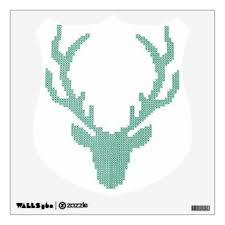 Deer Head Wall Decals Stickers Zazzle