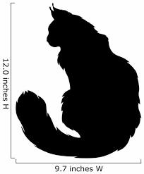 Furry Cats Silhouette Wall Decal Wallmonkeys Com