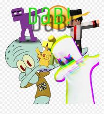 dab squidward marshmello minecraft fnaf