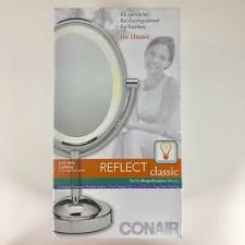 conair oval shaped double sided lighted