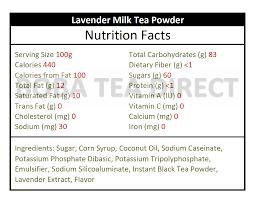 lavender milk tea powder lavender