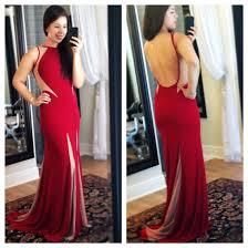 fierce red cutout dress