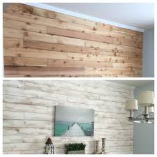 White Washed Wood Wall Made From Cedar Fence Boards White Wash Walls Cedar Walls Home