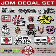 Jdm Decal Set Pack Sticker Stickerbomb Illest Hella Stance Low Life Honda Toyota Jdm Surf Logo Jdm Stickers