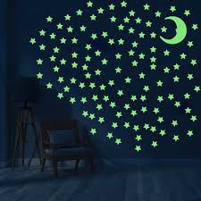 200pcs Star Wall Stickers Decal Glow In The Dark Baby Kids Bedroom Home Decor For Sale Online Ebay