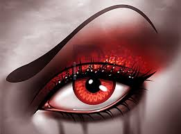 how to draw gothic eye makeup step by