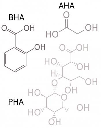 Image result for aha chemical formula""