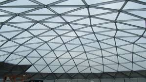 dome roof covers aluminum geodesic