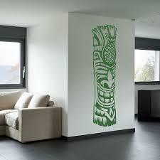 Tiki Totem 4 Vinyl Wall Decal Sticker Tiki Totem Tiki Decor Tiki Bar Decor