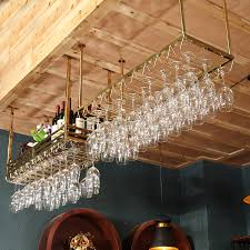 stainless steel wine rack hanging