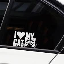 Cute Cat Car Decal Window Decal Vinyl Art Pattern Art Car Body Stickers Waterproof Car Stickers Aliexpress