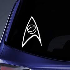 Amazon Com Bargain Max Decals Starfleet Science Insignia Sticker Decal Notebook Car Laptop 5 White Automotive