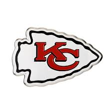 Kansas City Chiefs Color Emblem 3 Car Team Decal