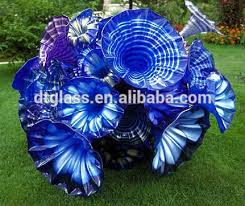 large garden decorative blown glass