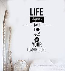Vinyl Wall Decal Motivation Words Quote Comfort Zone Phrase Stickers M Wallstickers4you