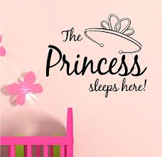 Amazon Com The Princess Sleeps Here Vinyl Wall Art Inspirational Quotes Decal Sticker Home Kitchen