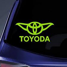 Amazon Com Bargain Max Decals Toyoda Yoda Sticker Decal Notebook Car Laptop 5 Lime Green Automotive