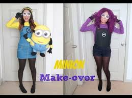 yellow and purple minion make