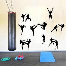 Martial Karate Taekwondo Wall Decal Boy Room Kids Room Martial Karate Boxing Judo Sport Wall Sticker Bedroom Gym Workout Vinyl Wall Stickers Aliexpress