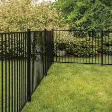 Freedom Actual 4 Ft X 6 02 Ft Standard Easton Black Aluminum Flat Top Decorative Metal Fence Panel Lowes Com In 2020 Metal Fence Panels Fence Panels Decorative Pool Fence
