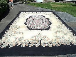 VINTAGE PRISCILLA TURNER Rug Guild Floral Hooked Rug Room Size Almost 18X12  Feet - $189.99 | PicClick